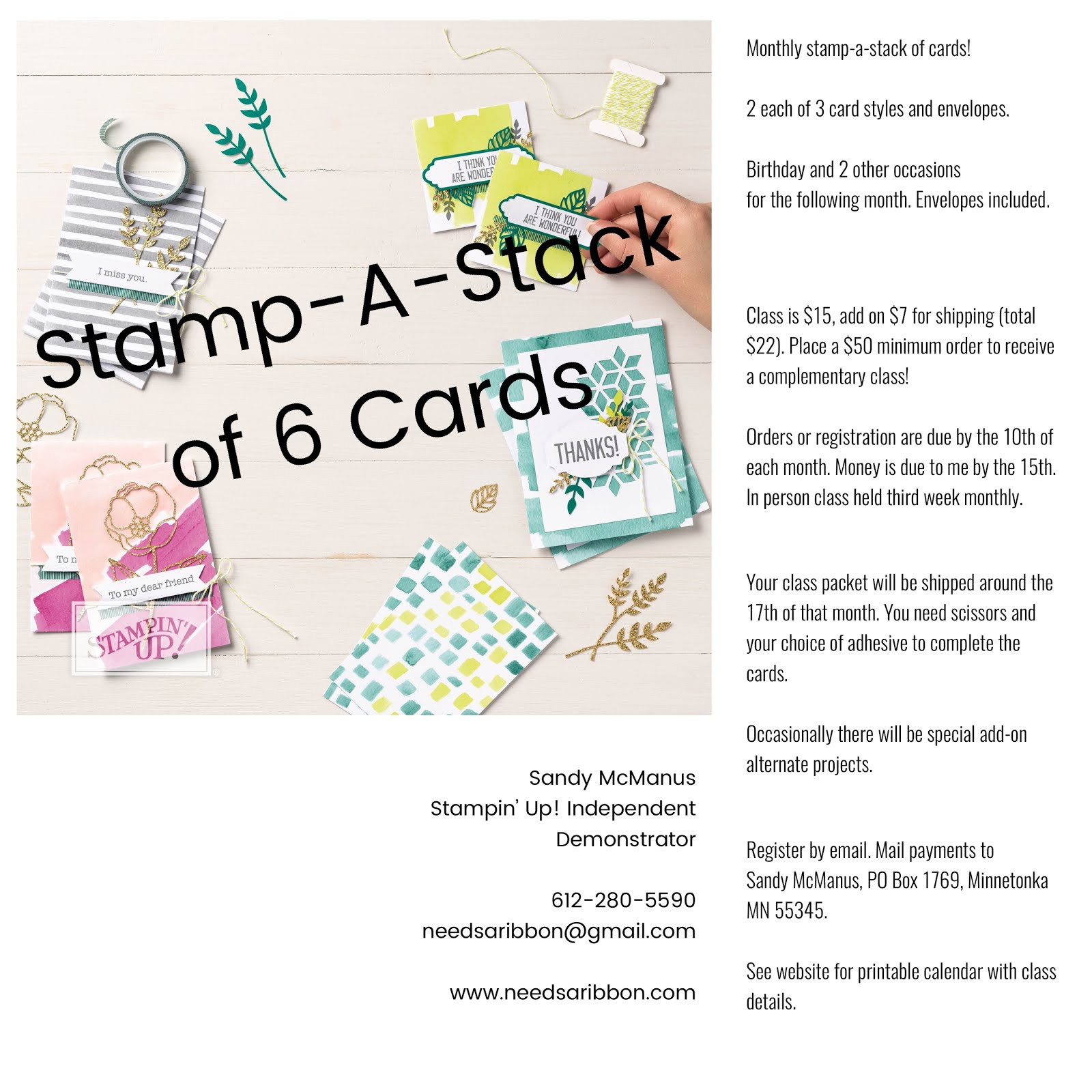 Monthly Stamp-A-Stack of Cards