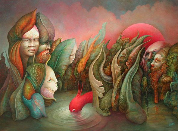Michel Ogier 1943 | French Visionary painter