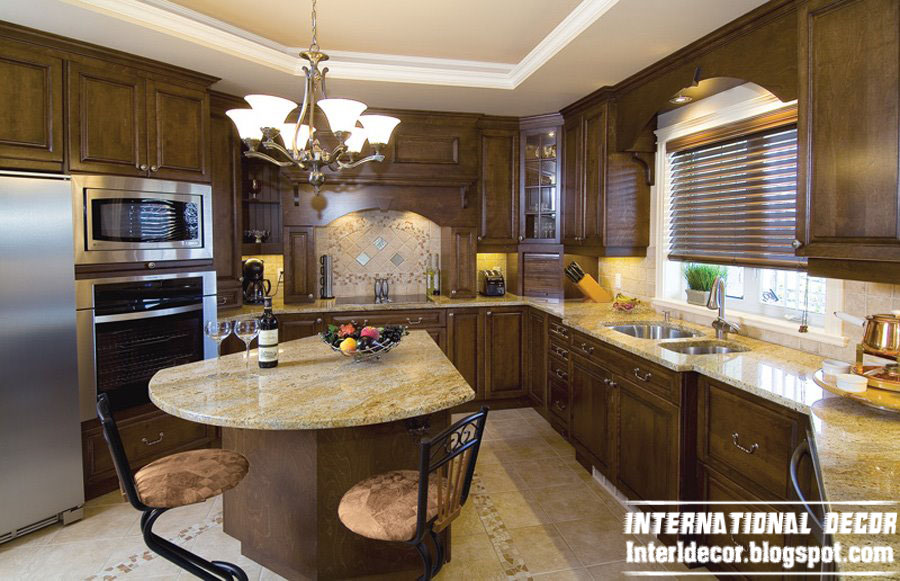 Classic wood kitchen cabinets designs wood kitchen furniture - Decoration de cuisine ...