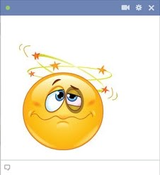Knocked Out - KO smiley for facebook