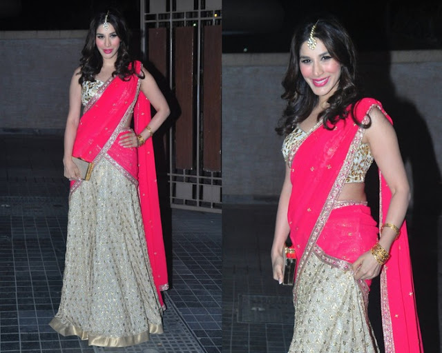 Kim Sharma Glitter Half Saree