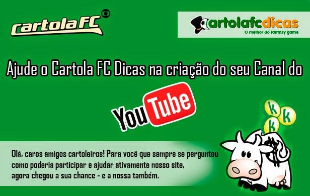 Ajude o Cartola FC Dicas na criação do seu Canal do YouTube.