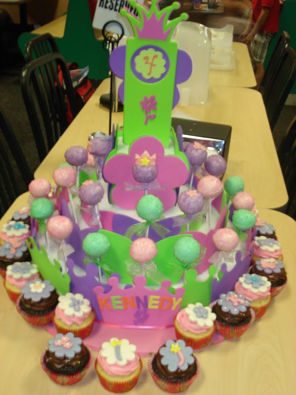 JessiCakes Project Princess Themed Cake PopsCupcake Tower