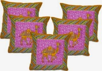 Buy Designer Pillow Covers (Set of 5) Rs. 199 only at Flipkart