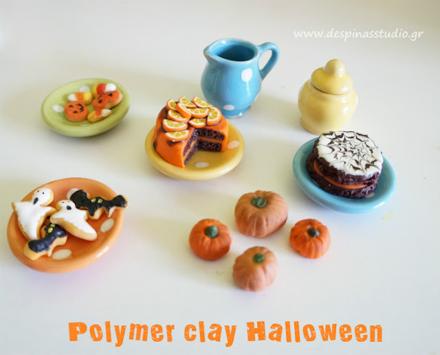 Polymer clay miniature treats for Halloween