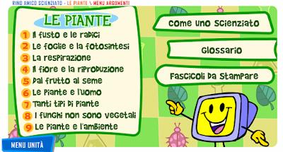 Verifiche matematica scuola primaria: Segnalo: le piante