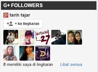 Tutorial Memasang Widget Google Plus Followers pada Blog
