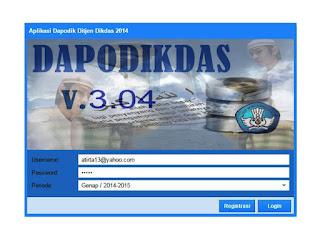 Lahirnya Dapodikdas Versi 3.04 tahun 2015