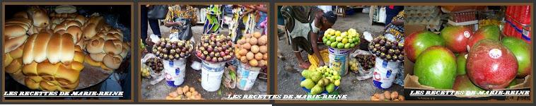 Différents pains sucrés et fruits