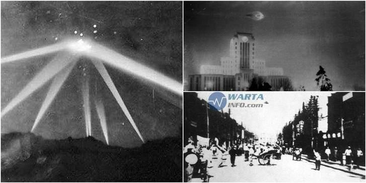 Foto gambar images jadul kuno penampakan pesawat UFO di dunia yang tertangkap kamera