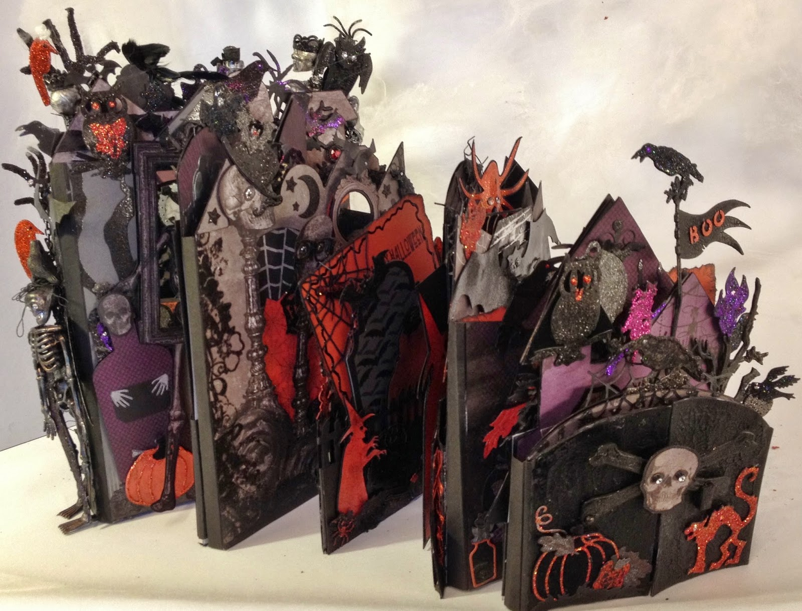 recollections spooky castle halloween mini album | annes