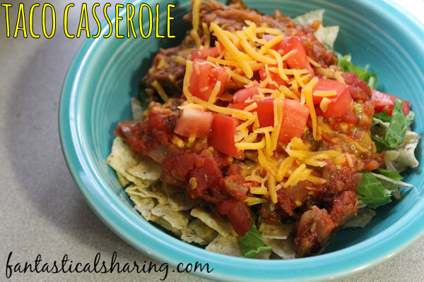 Taco Casserole | A kid-friendly version of tacos that can have additional ingredients added to appease the pickiest eaters! #taco #casserole #recipe