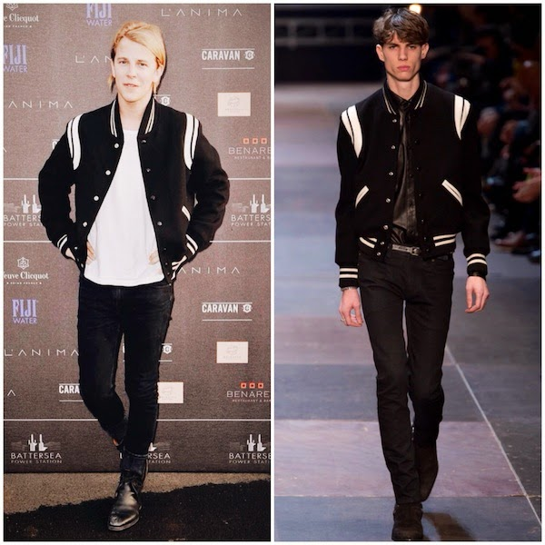 Tom Odell in Saint Laurent by Hedi Slimane - Battersea Power Station party 30 April 2014