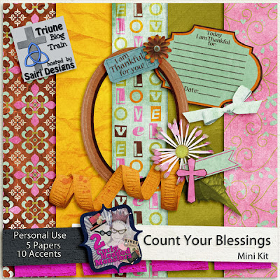 November Triune Blog Train ~ Count Your Blessings ~ Free Mini!!