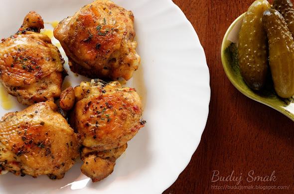 Pieczone udka z kurczaka w estragonie