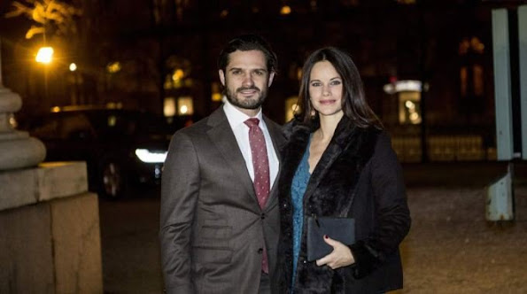 "Prince Carl Philip of Sweden and Princess Sofia of Sweden attended the concert of ""Christmas in Vasastan"" at the Gustaf Vasa Church"