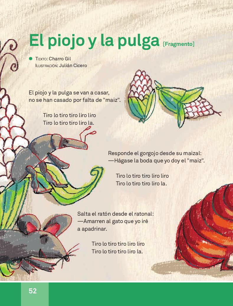 El piojo y la pulga - Español Lecturas 3ro 2014-2015