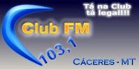 ouvir a Rádio Club FM 103,1 ao vivo e online Cáceres MT