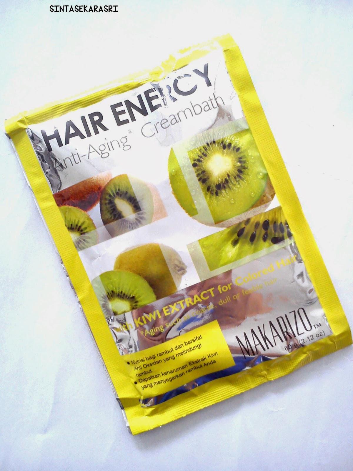 Sintas Beauty Makarizo Hair Energy Kiwi 60g X 4 Sachet Haha Sorry Nggak Ada Foto Kondisi Rambut Soalnya Yah Gitulah Wkwk