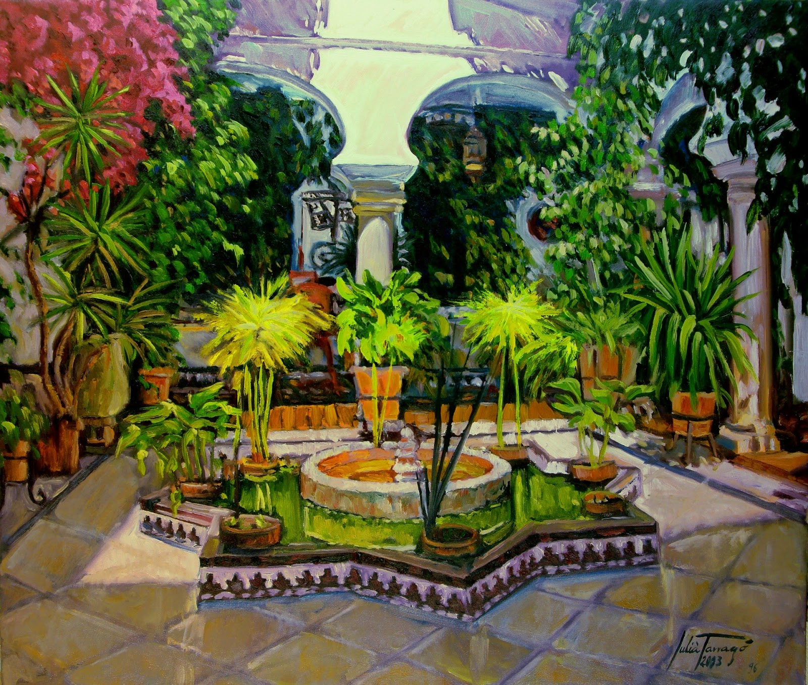 Patios andaluces pintados al leo - Patios interiores andaluces ...