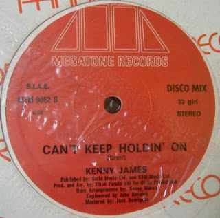Kenny James - Can\'t Keep Holdin\' On 1983 12 Inch