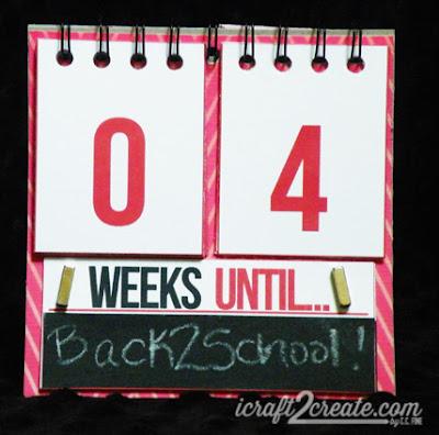 Back to School, countdown, flip calendar, calendar, cinch, autumn, school, chalkboard vinyl, DIY