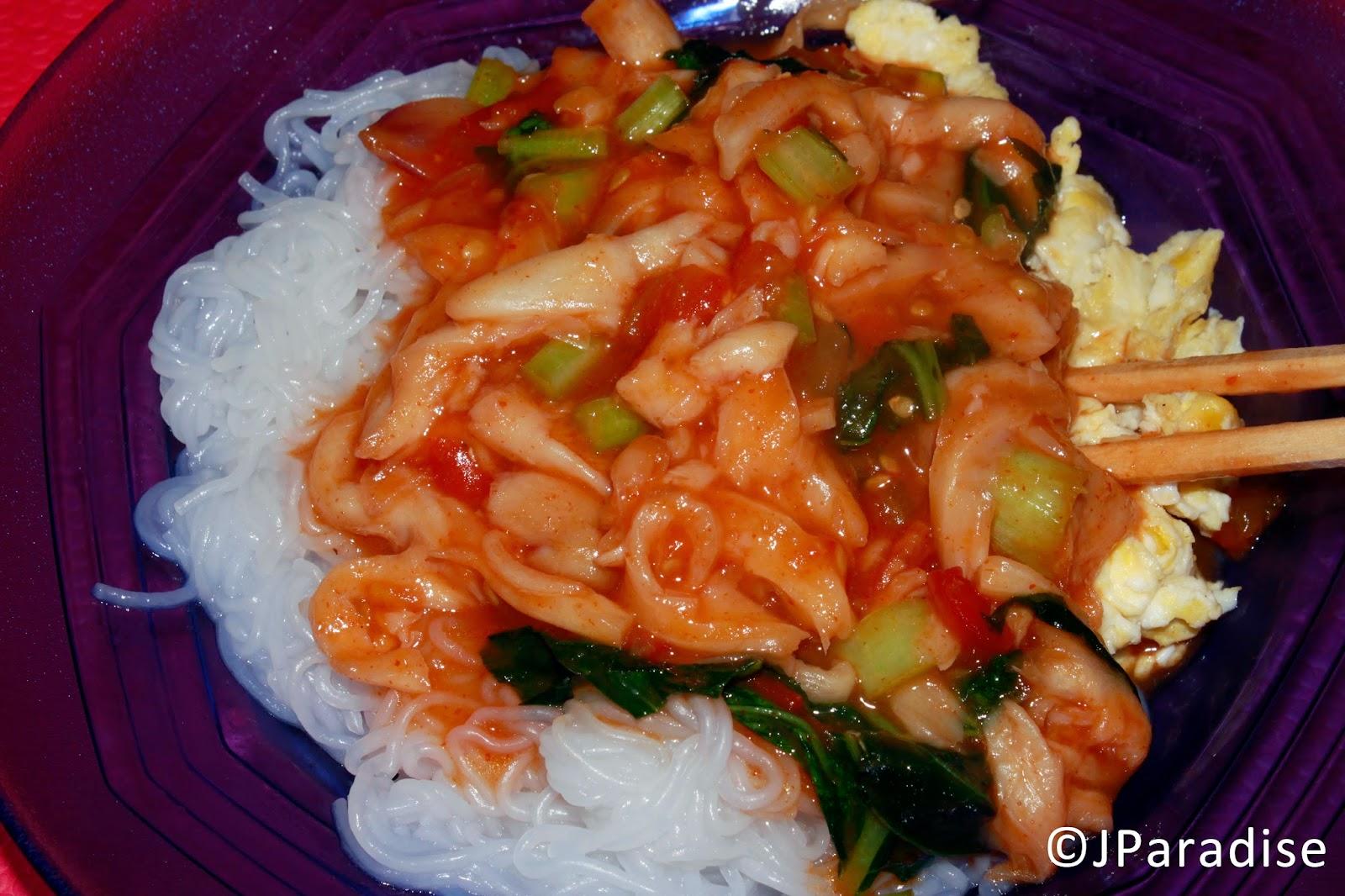 kuliner indonesia, mie laksa jamur