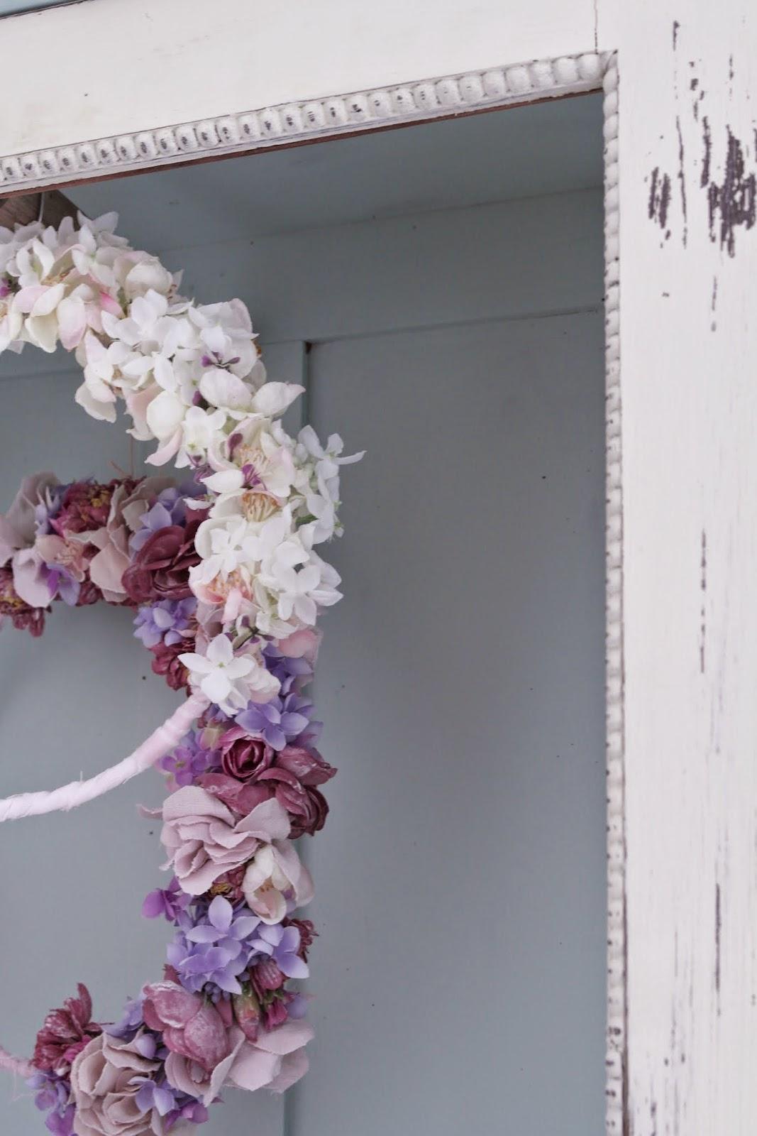 Vintage Shabby Chic Blütenkranz.
