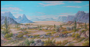 Desert,landscape,painting,art,Karl Von Weidhofer,influence