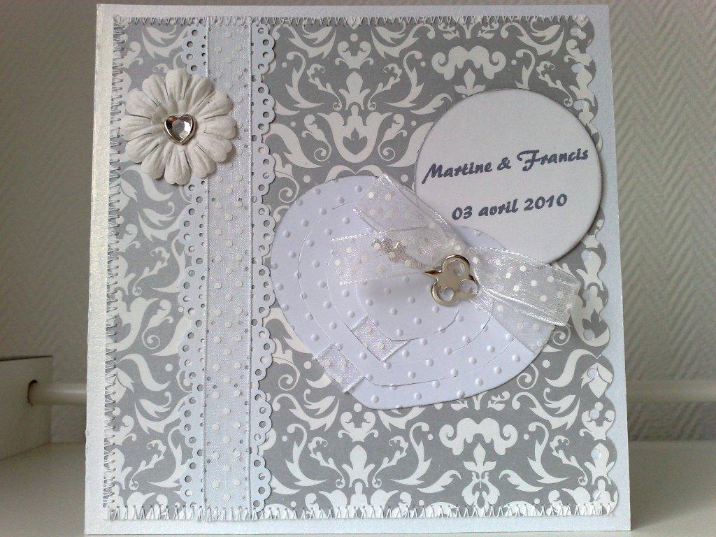 maryann scrapbooking carte mariage pour des amis. Black Bedroom Furniture Sets. Home Design Ideas