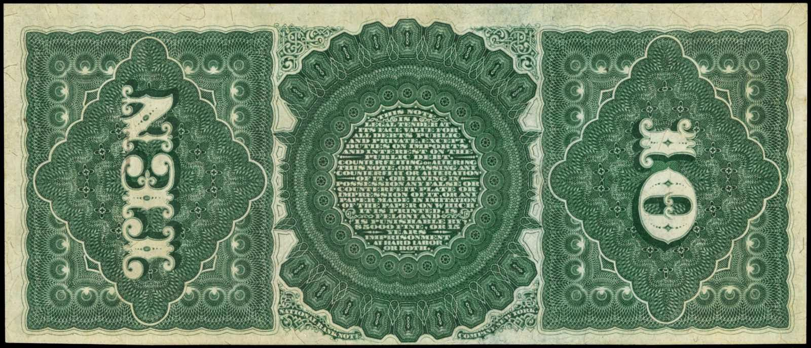 US currency 10 Dollar bill Legal Tender Note