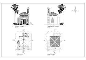 desain musholla mungil minimalis 1
