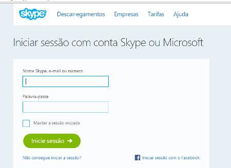 Como usar o Skype online