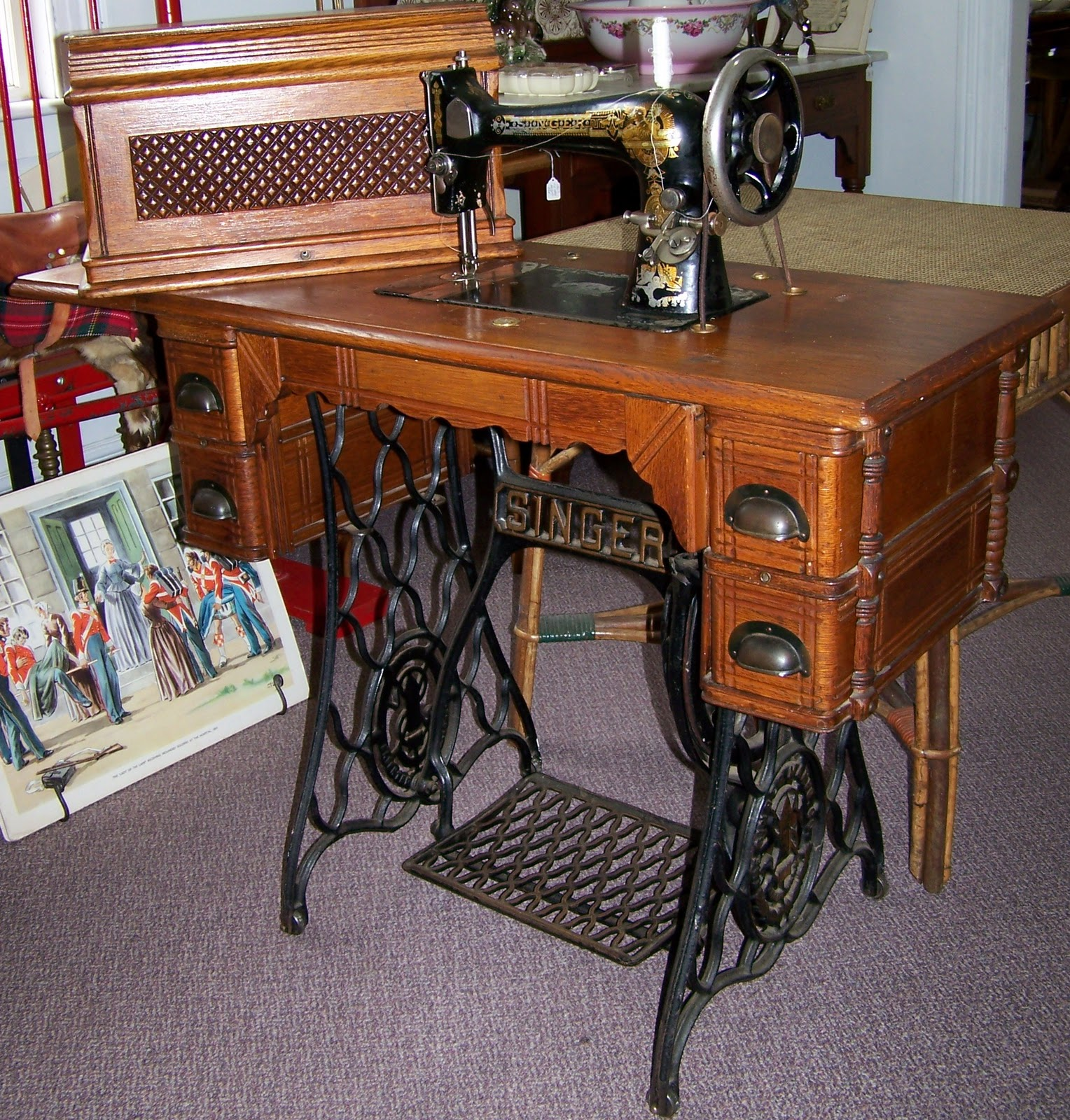 coffin top sewing machine