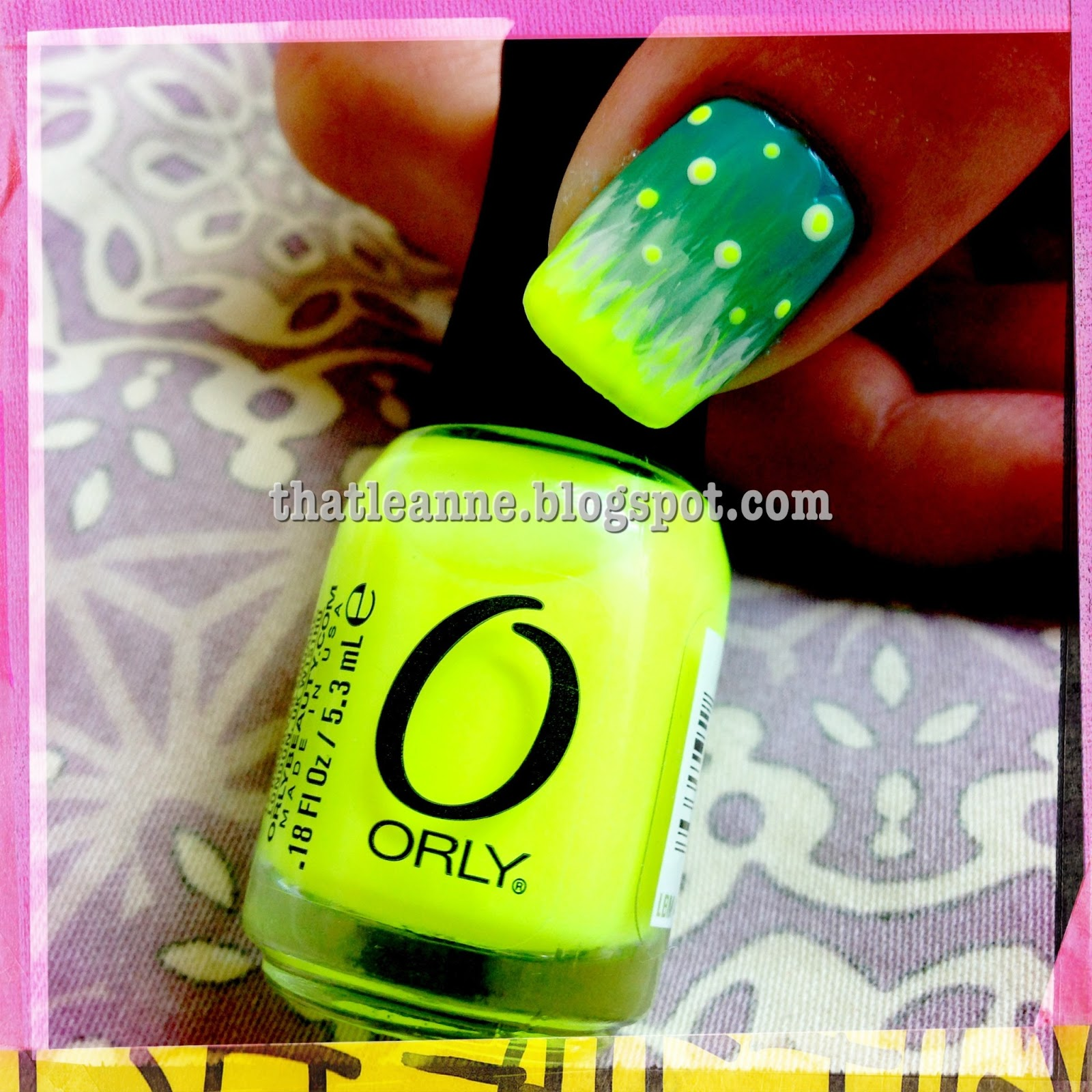 thatleanne: Fireflies inspired nail Tutorial feat. Orly Glowstick