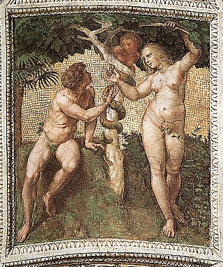 and eve michelangelo Adam painting