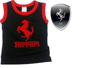 Black Ferrari Red logo