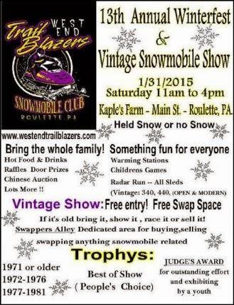 1-31 Winterfest & Vintage Snowmobile show