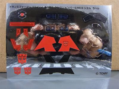 Stikers Cliffjumper Transformers Prime Takara