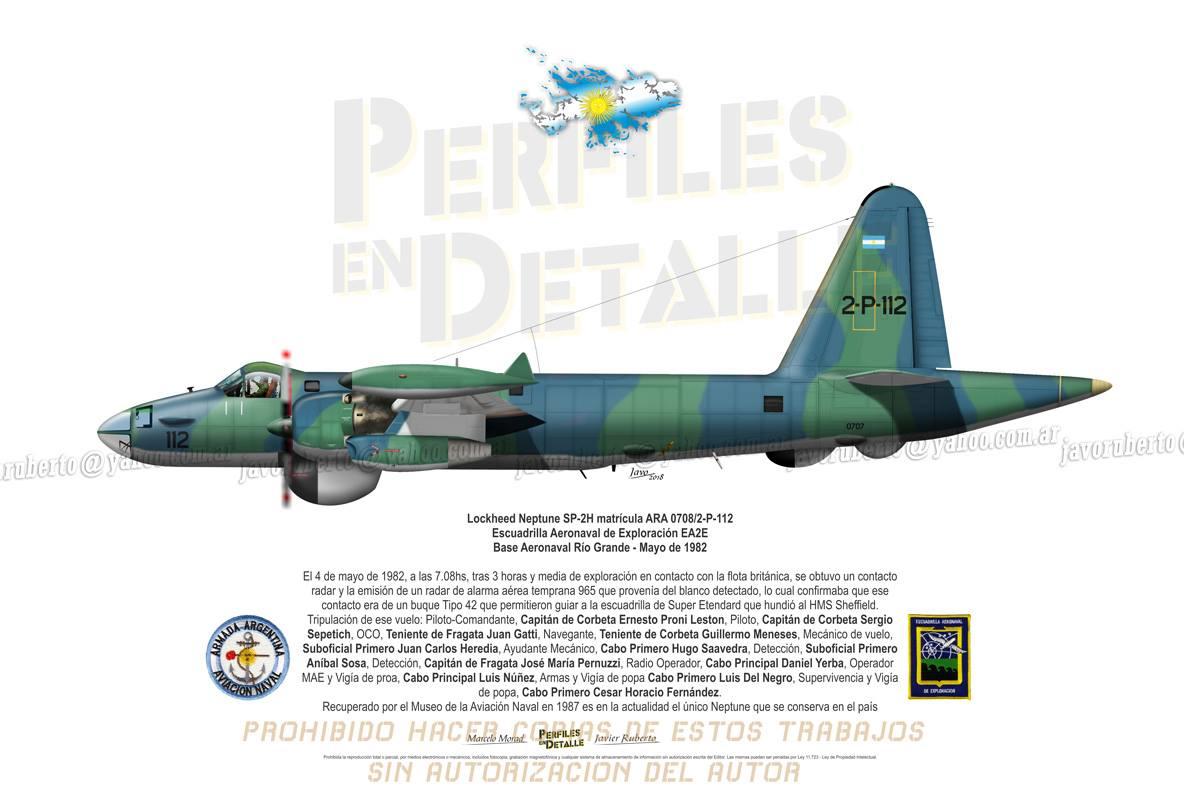 Lockheed Neptune SP-2H matrícula ARA 0708/2-P-112 -Escuadrilla Aeronaval de Exploración