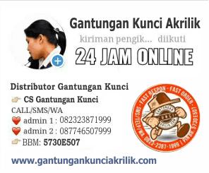 Info pemesanan Ganci Akrilik
