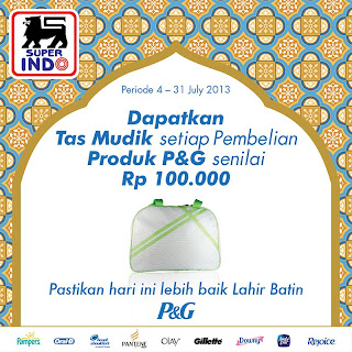 Hadiah promo berupa Tas Mudik dari Superindo senilai Rp 100.000