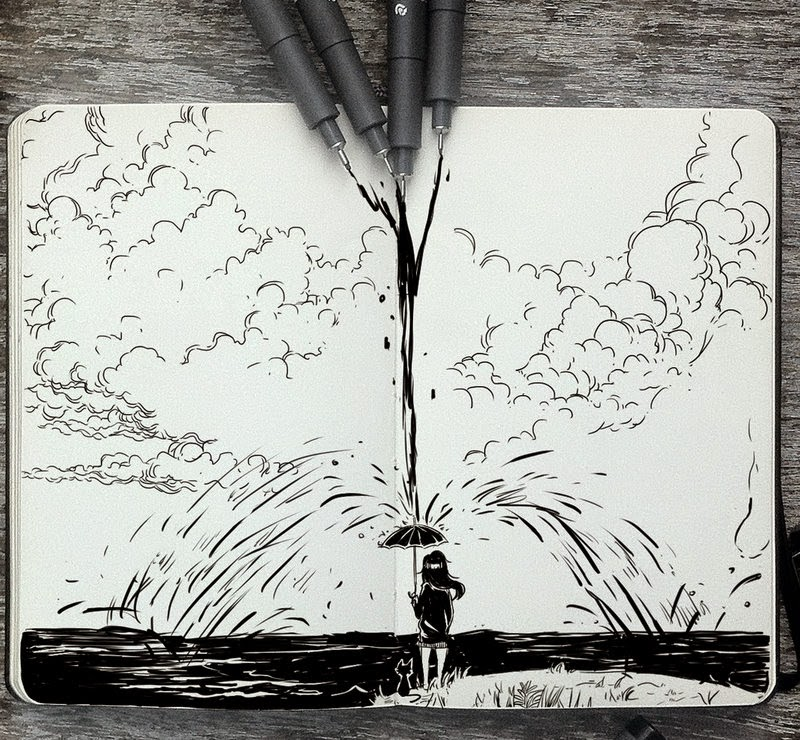 08-Flood-Gabriel-Picolo-365-Days-of-Doodles-end-of-2014-www-designstack-co