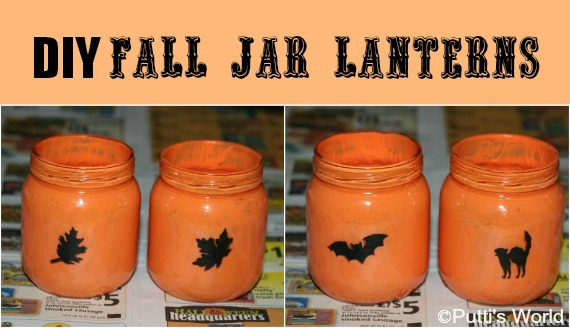 DIY Fall Jar Lanterns