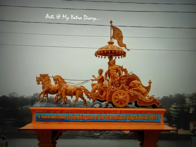Parmarth Niketan Ashram in Rishikesh - Arjun and Shri Krishna on a chariot