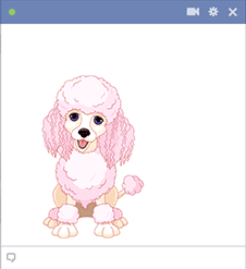 Poodle Sticker for Facebook