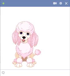Pink Poodle Emoticon