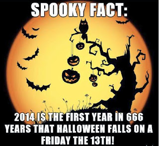 spooky fact: for the first time in 666 Halloween comes on Friday 13!