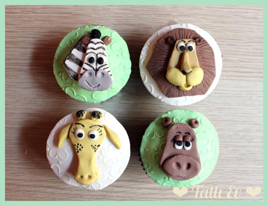 masagascar_temali_cupcakeler_hayvan_figurleri