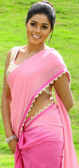 poorna in pink saree latest photos